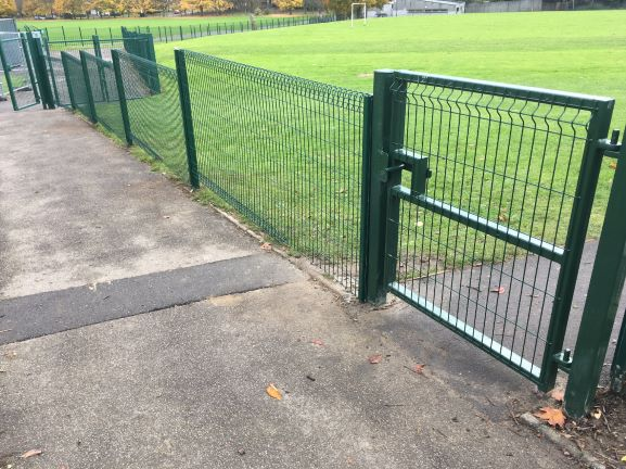Bullnose v mesh fencing ideal for schools playgrounds