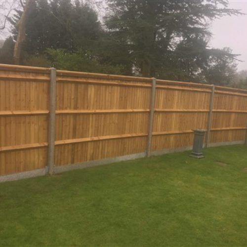 This is how feather edge looks from the back constructed on site by AA fencing contractors